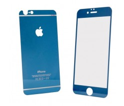 IPHONE 6 6S - TEMPERED GLASS 0.3MM FRONT+BACK BLUE