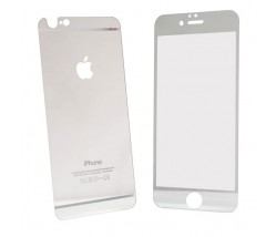 IPHONE 6 6S - TEMPERED GLASS 0.3MM FRONT+BACK SILVER