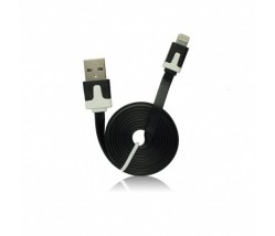 iPhone 5S/5/5C/6/P Plus/iPad Mini Flat Data Cable IOS 9 black 1m