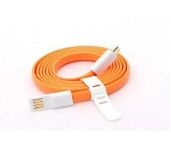 CARTECH LASER ΚΑΛΩΔΙΟ ΦΟΡΤΙΣΗΣ USB/MICRO USB 1m ORANGE