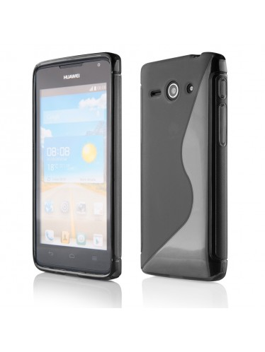 "BACK COVER ""S-CASE"" HUAWEI Y530 SOLID BLACK"