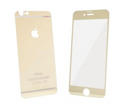 IPHONE 5 5S 5SE - TEMPERED GLASS 0.3MM FRONT+BACK GOLD