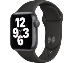 Apple Watch SE GPS  Aluminium 40mm Space Grey Sport Band Black EU