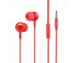 Hoco M14 Earphones 3.5mm με μικρόφωνο - κόκκινο