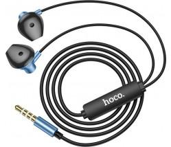 Hoco M75 Earphones 3.5mm με μικρόφωνο - μπλε