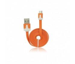 Micro Usb Flat Data Cable orange