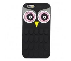 BACK CASE 3D OWL IPHONE 6 6S BLACK