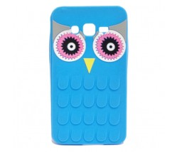 BACK CASE 3D OWL SAMSUNG G530 GALAXY GRAND PRIME BLUE