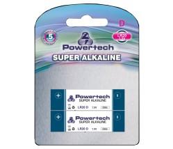 POWERTECH SUPER Αλκαλική μπαταρία LR20