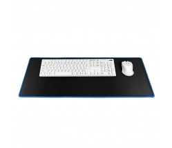 Gaming mousepad 700x300x3mm / black/ blue stitching