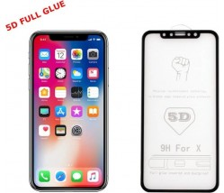 "5D Full Glue Roar Glass - APPLE  IPHONE  XS Max  6,5"" black"